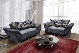 🔥💗🔥BLACK GREY OR BROWN MINK🔥💗🔥BRAND NEW DOUBLE PADDED SHANNON FARROW CORNER / 3+2 SEATER SOFA