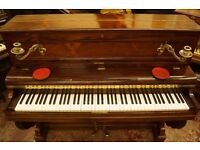Stunning antique French upright decorative piano - Delivery available UK, Europe + World wide