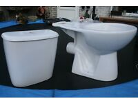 TOILET CISTERN AND PAN