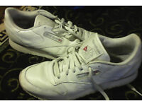 Reebok classics trainers white size 8.5