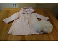 Gorgeous little Girl's Absorba Coat and Designer hat size 18 mths.