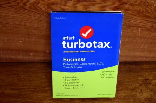 NEW Intuit TurboTax 2019 Business Partnerships Corporations LLCs Trust & Estates