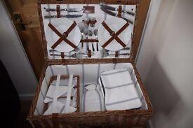 Wicker picnic hamper 4 person by JOHN LEWIS unused