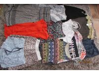 Girls/Ladies Bundle of clothes. VGC. Size ladies 10 -12. 13 items. £12.50. Torquay.