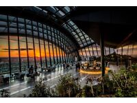 Waiter/Waitress for Darwin Restaurant at The Sky Garden- £9.50 per hour