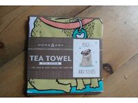 Pug Tea Towel NEW