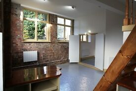 Large Victorian Warehouse Apartment with garden