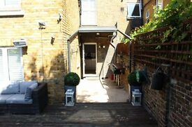 £485pw. New Kings Road, LG/GND Floor 2-bedroom flat, 23 Ft South facing GDN, Fulham Broadway 400M.