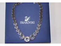Swarovski necklace and matching earrings