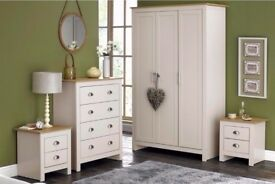 BRAND NEW Lancaster Bedroom 4 Piece Set With Scratches on Side HOME FURNITURE
