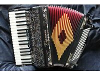 NEW piano accordion Vignoni Ravel 2 - Hand made reeds - black - 96 bass - 34 key light weight