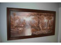 986f804e77d Large Oil on Canvas Framed Painting.