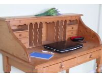 DELIVERY OPTIONS - RUSTIC SOLID PINE WRITING BUREAU - DESK WAXED WITH CHARACTER