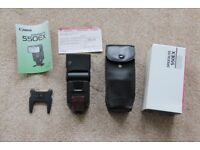 Used Canon Speedlite 550EX flashgun in mint condition with all original bags, instructions etc.