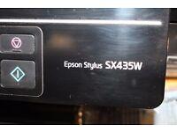 3-in-1 Epson SX435W Printer Scanner Copier plus lots of colour cartridges