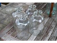 DEMIJOHNS X4 (more available) clear glass demijohns for home brewing , wine and cider making etc.