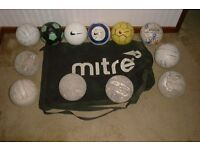 Large MITRE bag plus 12 footballs size 4 (£25)