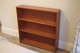 Thin timber bookshelf