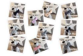 Tweed wool bow ties for dogs