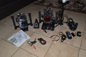 Ikelite underwater camera and housing and lighting rig