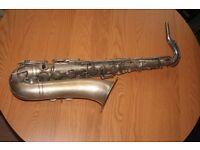 J. Gras Brevete SGDG Paris vintage tenor saxophone