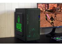 Star Wars Gaming Green LED PC Computer Intel Quad Core Nvidia GTX Graphics Win 10 Home