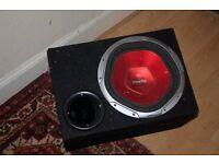 sony x-plod 12'' sub in box (1200w 350w rms)