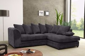 BRAND NEW SOFA 3+2 OR CORNER JUMBO CORD FABRIC SOFA DIFFERENT COLOURS AVAILABLE SALE PRICE