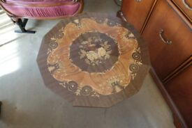 Beautiful Inlaid Marquetry Coffe / Card Table