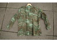 Vintage (1980s) Greek Army Lizard Camo Pattern Shirt