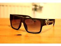 Versace Medusa Glasses Matte Unisex Mens Women Italy Sunglasses