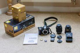 Nikon D3200 DSLR camera 18-55 VR Kit plus 35mm f/1.8 BOXED with extras