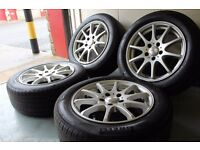 "DeZent 16"" 5x110 alloy wheels + matching Pirelli tyres! Vauxhall saab alfa"