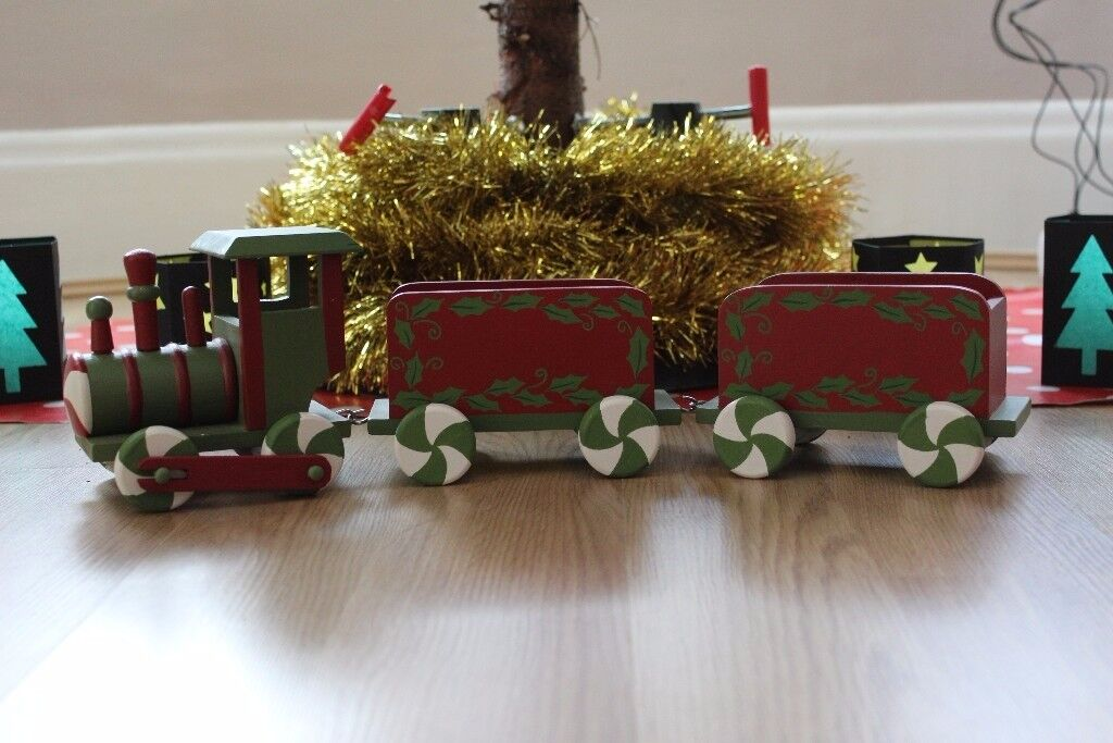 large wooden christmas train great xmas decoration