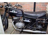 Vintage CZ Motorbike 125cc 1972