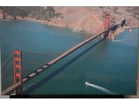 Large Photographic Print on Canvas of Golden Gate Bridge