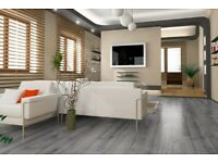 5 boxes of laminate flooring - grey steel colour