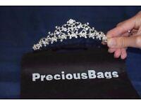 Silver plated Bridal Tiara with Swarovski Crystals from PreciousBags