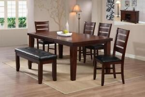 Solid Wood Dinette with Butterfly Leaf (ME220)