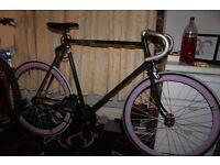 Custom Hand Built 1960's Raleight Fixie Fixed Gear Single Speed Flip Flop Hub Urban Hip Hipster Bike