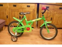 Apollo Snap Dragon with stabilisers tidy little bike