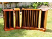 Wooden CD storage units