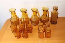 Assorted amber glass, used as centre pieces for wedding Payneham South Norwood Area Preview