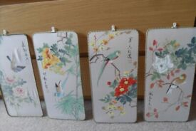 Pretty, 'Chinese' prints - x4 for £40