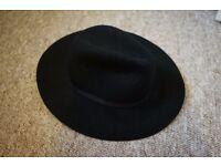 Topshop Black Ladies Wide Brim soft hat in Black (Onesize) 100% Wool