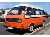 VW T25 / T3 Devon Moonraker campervan. 1982, 1970 (cc) aircooled. 11 Month MOT.