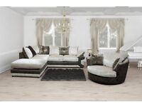*** 1 YEAR WARRANTY*** BRAND NEW MAX DIAMOND CORNER SOFA OR 3+2 ON SPECIAL OFFER