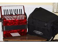 Classic Cantabile accordion + carry case, 5.9 kg weight. £150 ono. Ideal for beginner