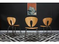 Set of 4 Spanish designer stacking chair by STUA. Dining chairs. Free Edinburgh delivery