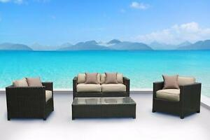 FREE Delivery in Kelowna! Outdoor Patio Wicker Sunbrella Conversation Sofa Set by Cieux! Brand New!